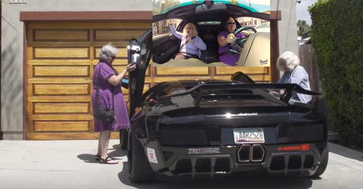 មិនលំៗទេ!! ម៉ាក់យាយទាំងពីរនាក់នេះជិះ Lamborghini ដើរផ្សារ ធ្វើឱ្យមនុស្សគ្រប់គ្នាសម្លឹងមើលគាត់ (មានវីដេអូ)